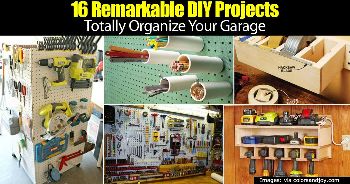 16 remarkable diy projects totally organize your garage home garden pulse - Organize Garage
