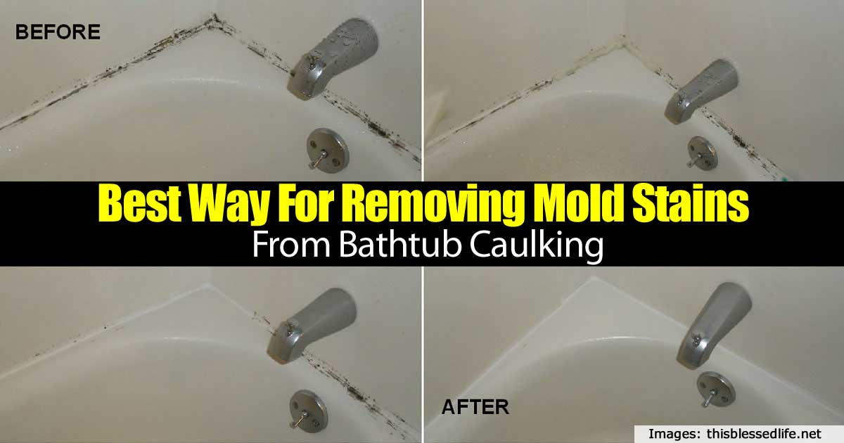 Best Way For Removing Mold Stains From Bathtub Caulking Home - Bathtub mildew removal